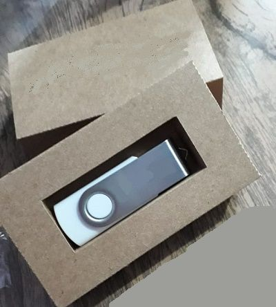 Kit pen drive + caixinha kraft ou offset personalizados (MINIMO 5 PEÇAS)   - Premiere Brindes