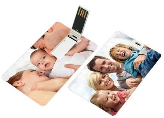 Pen card personalizado cada lado com uma foto diferente (MINIMO 1 PEÇA)  - Premiere Brindes