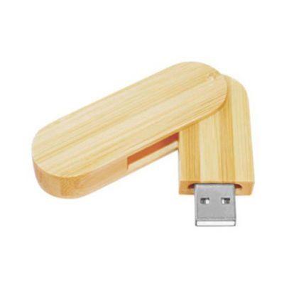 Pen drive de bambu ecológico personalizado (MINIMO 5 PEÇAS)   - Premiere Brindes