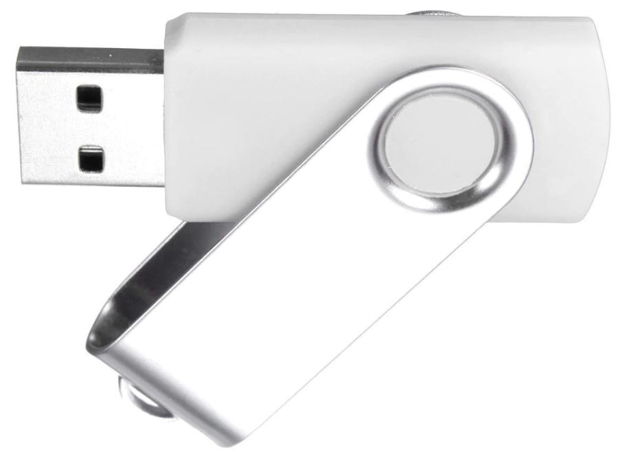 Pen drive giratório sem personalização  - Premiere Brindes
