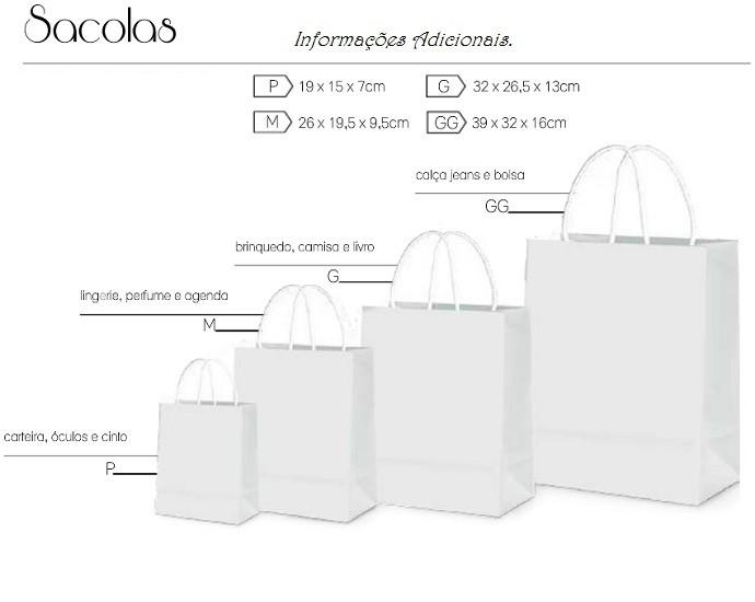 Sacola de kraft pardo ou branco 90grs personalizada (MINIMO 10 PEÇAS)  - Premiere Brindes
