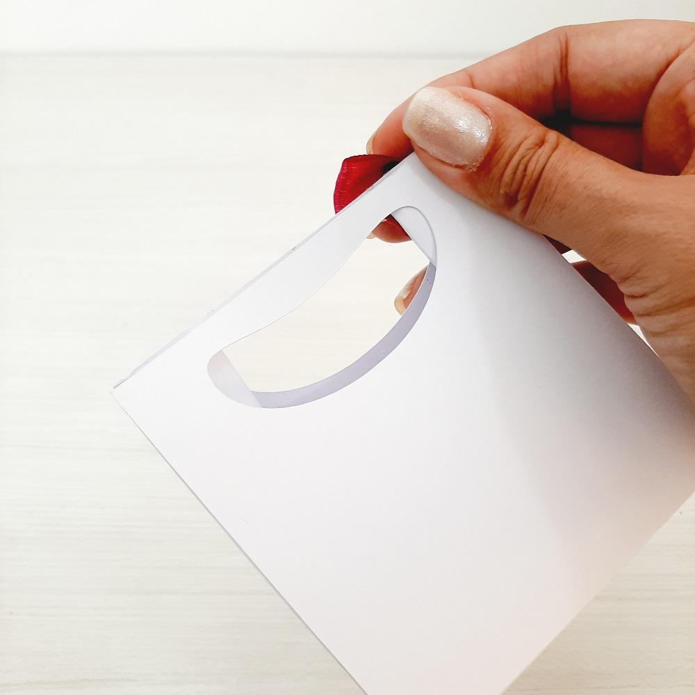 Sacola para joias 10x10x5cm papel 180grs personalizada (MINIMO 30 PEÇAS)  - Premiere Brindes