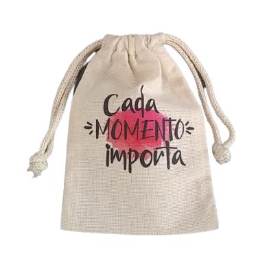 Saquinho de algodão cru personalizada (MINIMO 10 PEÇAS) VÁLIDO ATÉ 20/04/21  - Premiere Brindes