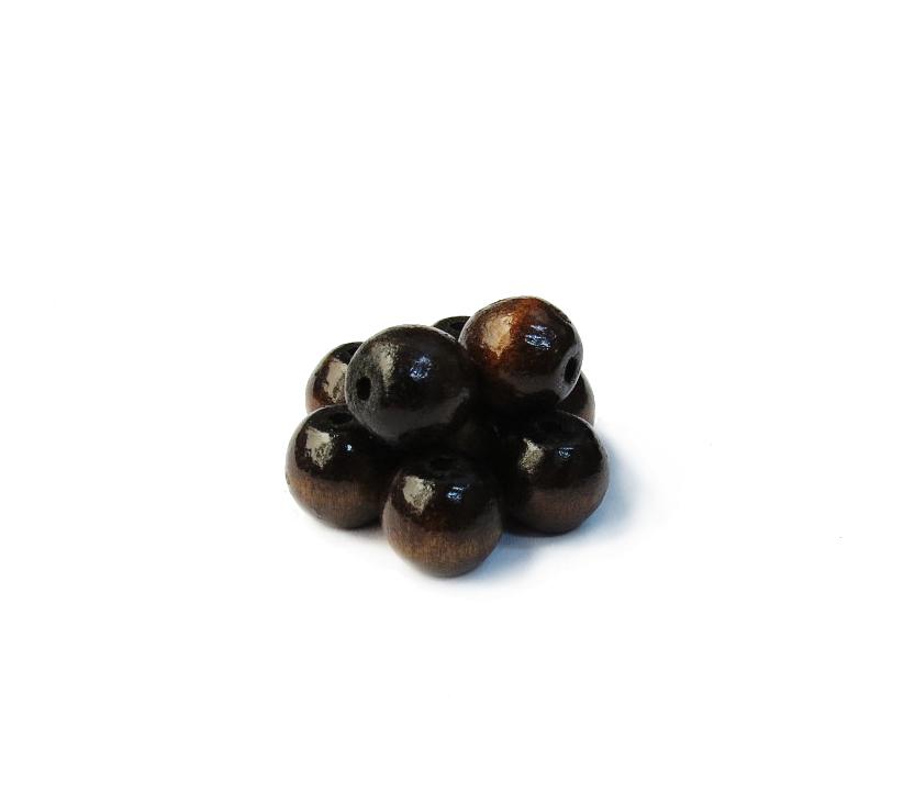 003 - Bola de Madeira (Marrom Escuro)