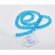 Azul Claro Transparente Achatado (08 mm)