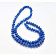 Azul Leitoso Achatado (06 mm)
