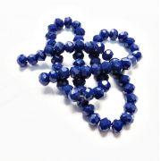 Azul Royal Leitoso Achatado