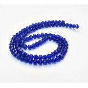 Azul Royal Transparente Achatado (6mm)