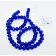 Azul Royal Transparente Achatado (8mm)