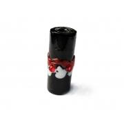 Especial Firma 205 - Murano Strass Preto/Branco/Vermelho (G)