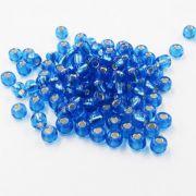 Miçanga Chinesa Azul Claro Transparente