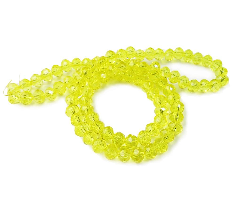 Amarelo Transparente Achatado (06 mm)