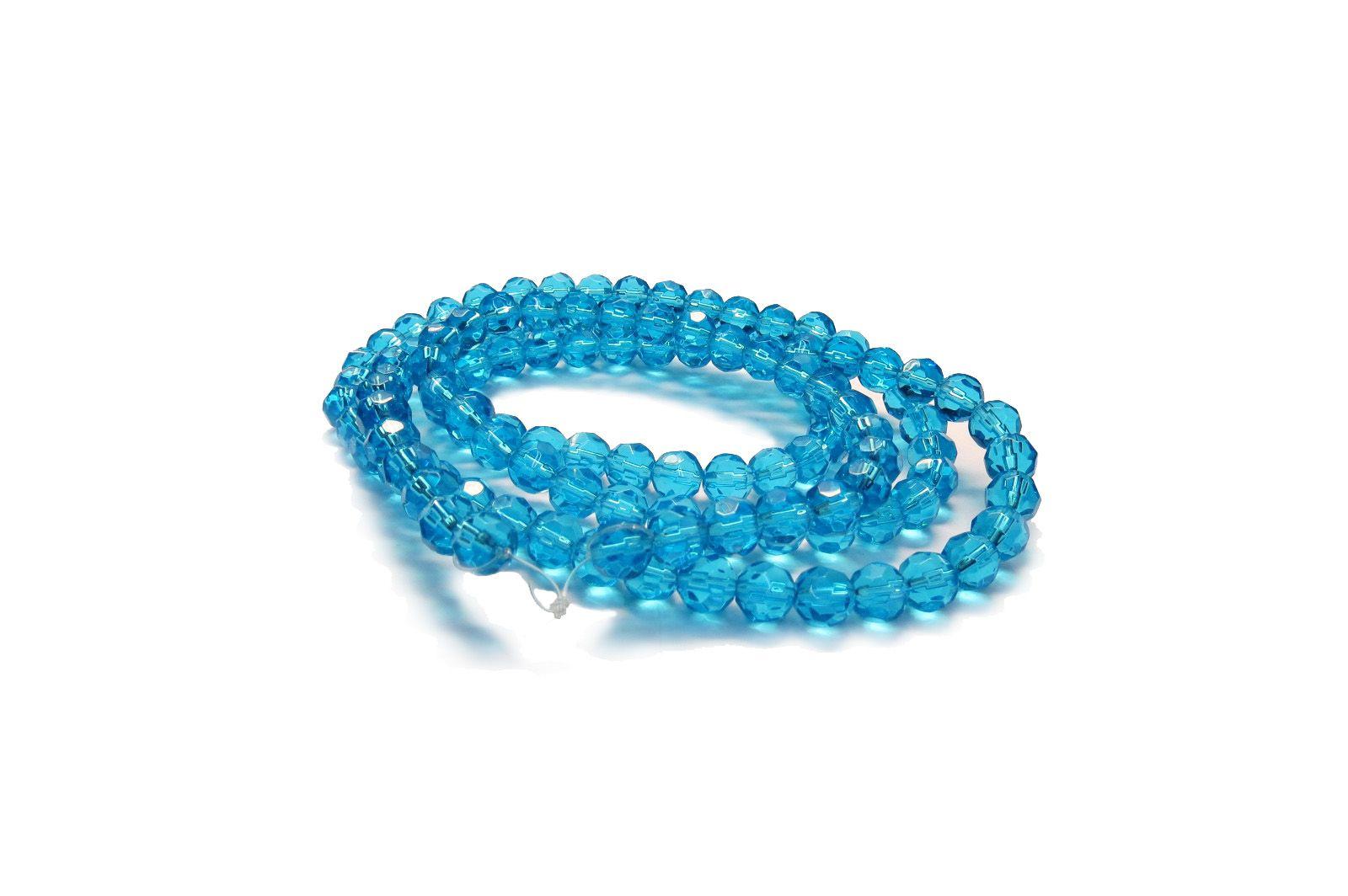 Azul Claro Transparente Redondo (08 mm)