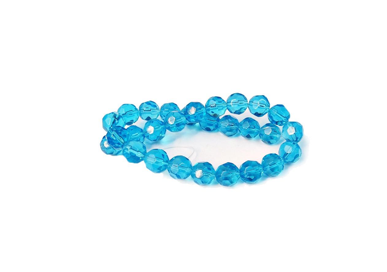 Azul Claro Transparente Redondo (12mm)