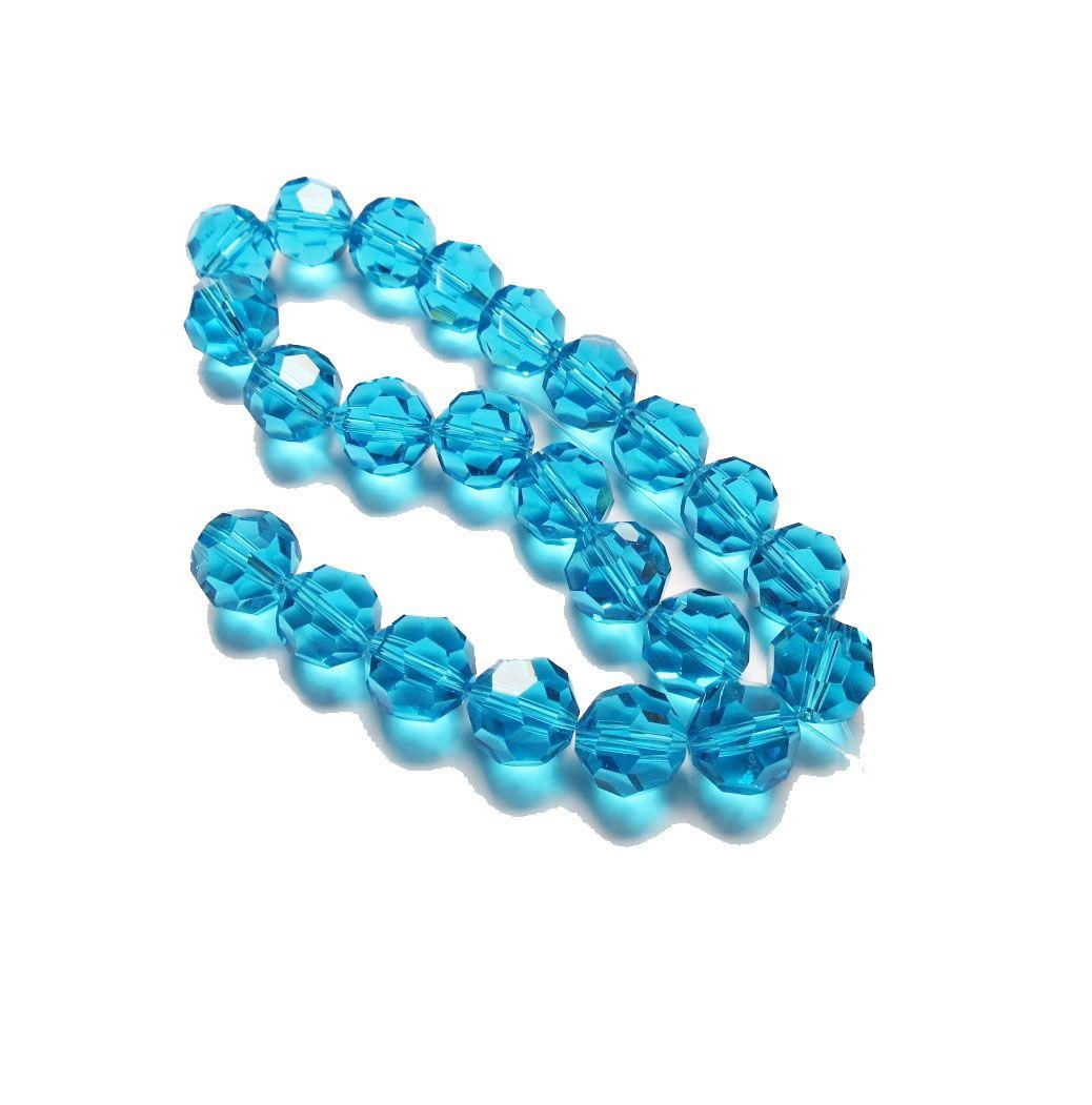Azul Claro Transparente Redondo (14mm)