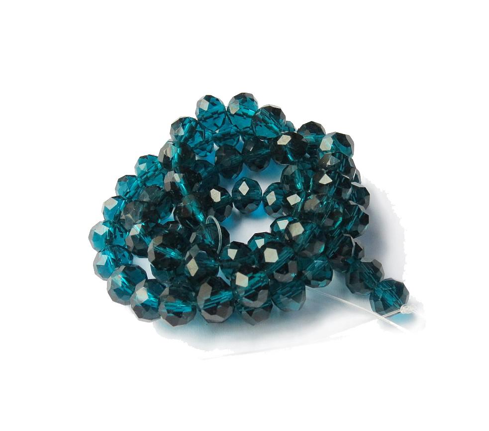 Azul Marinho Transparente Achatado (08 mm)