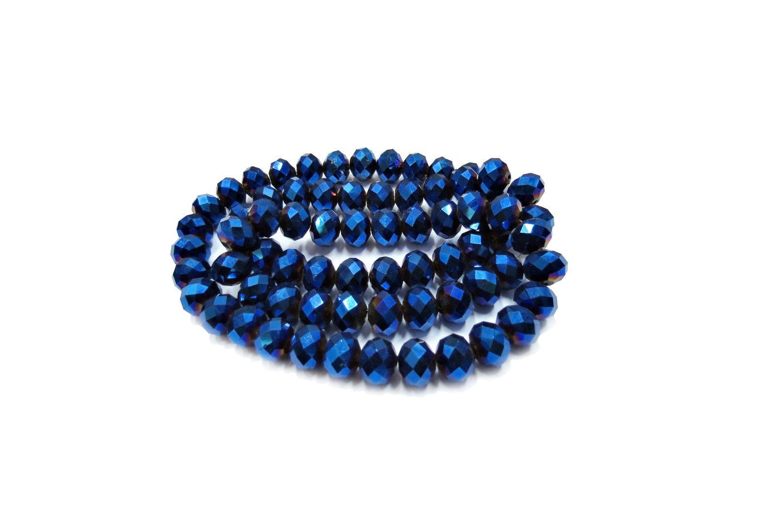 Azul Metalizado Achatado (12mm)