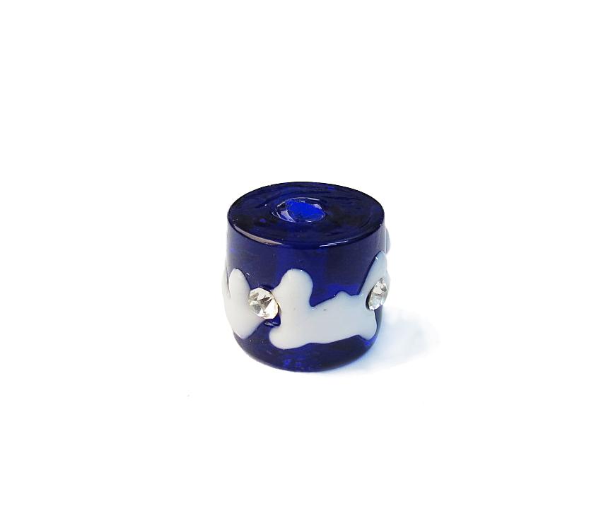Azul Royal/Branco Transparente
