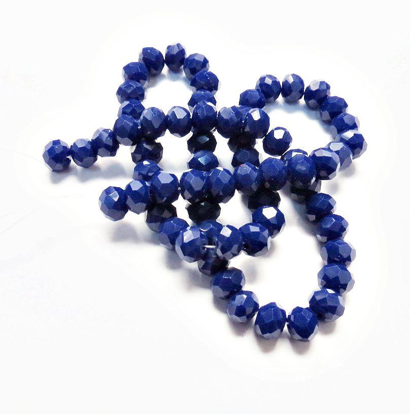 Azul Royal Leitoso Achatado (08 mm)
