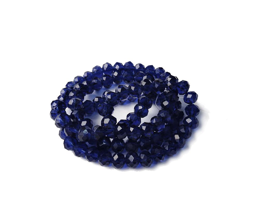Azul Royal Transparente Achatado (06 mm)