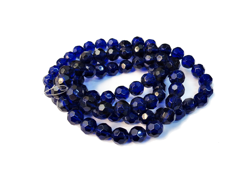 Azul Royal Transparente Redondo
