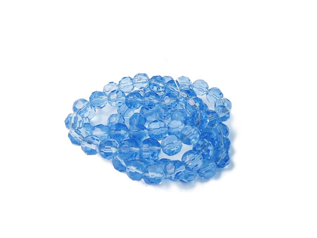 Azul Transparente Redondo (08 mm)