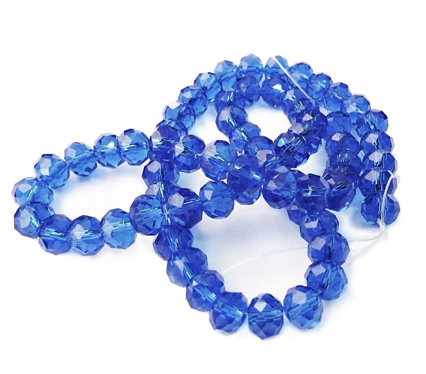 Azul Transparente Achatado (08 mm)