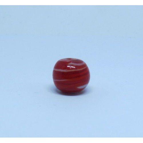 Firma 118 - Bola Murano Vermelho/Branco