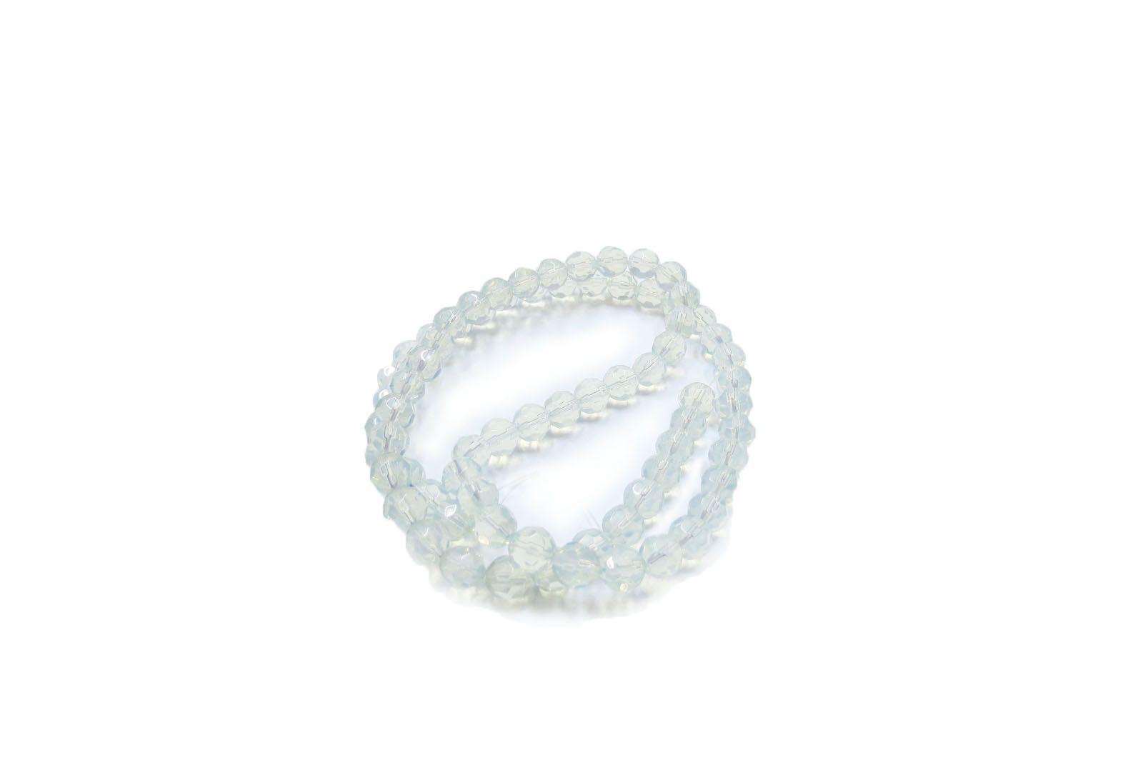 Branco Opal Transparente Redondo