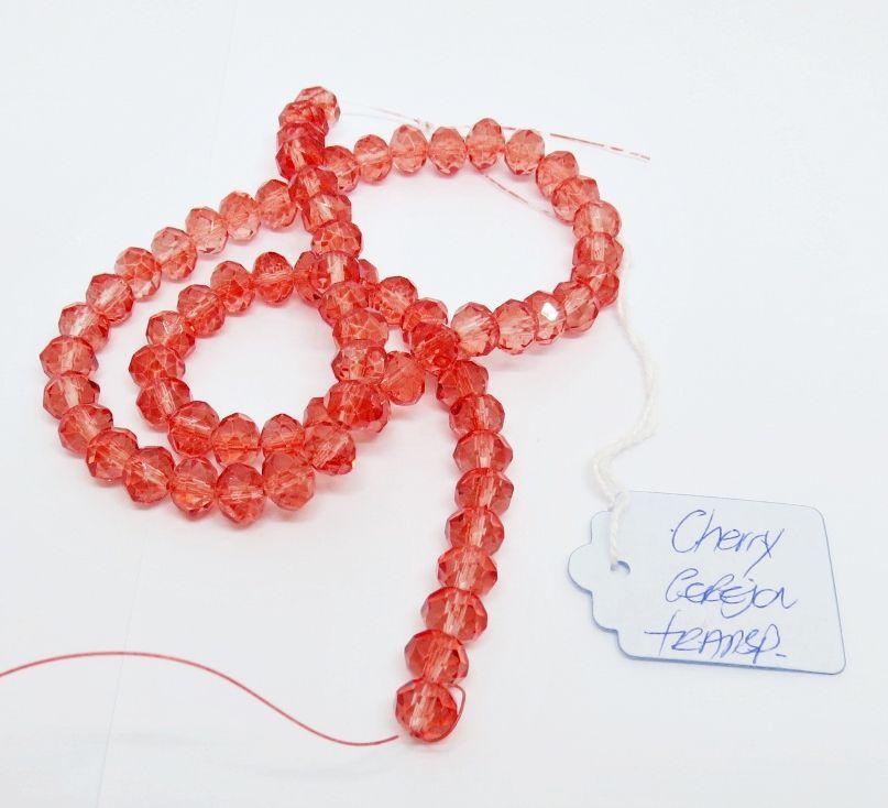 Cherry Cereja Transparente Achatado (08 mm)