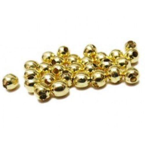 Conta Metal Dourado 6 mm