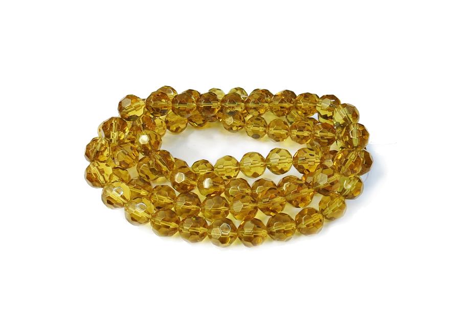 Dourado Claro Transparente Redondo (12 mm)