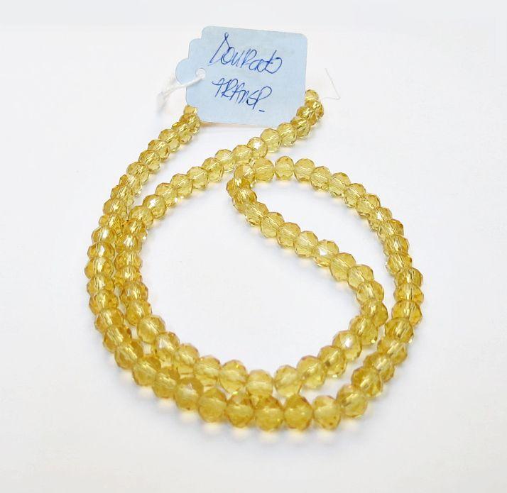 Dourado Transparente Achatado (06 mm)