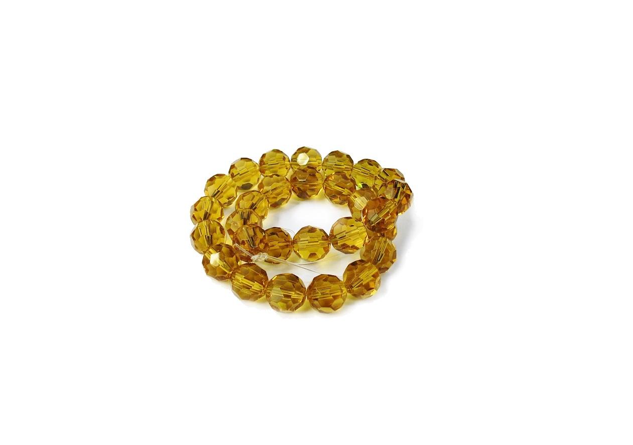 Dourado Transparente Redondo