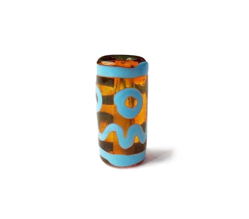 Especial Firma 004 - Murano Caramelo Transparente/Turquesa (G)