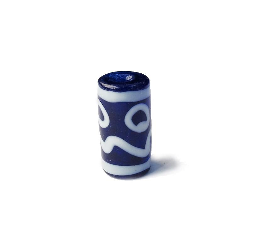 Especial Firma 013 - Murano Azul Royal Transparente/Branco (G)