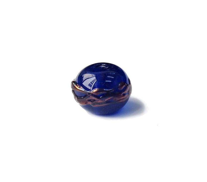 Especial Firma 017 - Esfera Azul Royal Transparente/Cobre (G)