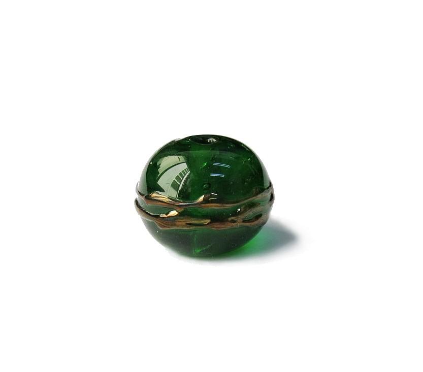 Especial Firma 024 - Esfera Verde Escuro Transparente/Cobre (G)