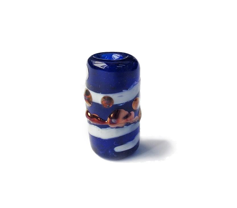 Especial Firma 036 - Murano Azul Royal Transparente/Branco/Cobre (G)