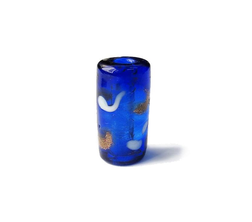 Especial Firma 120 - Cachimbo Azul Royal Transparente/Branco/Dourado (G)