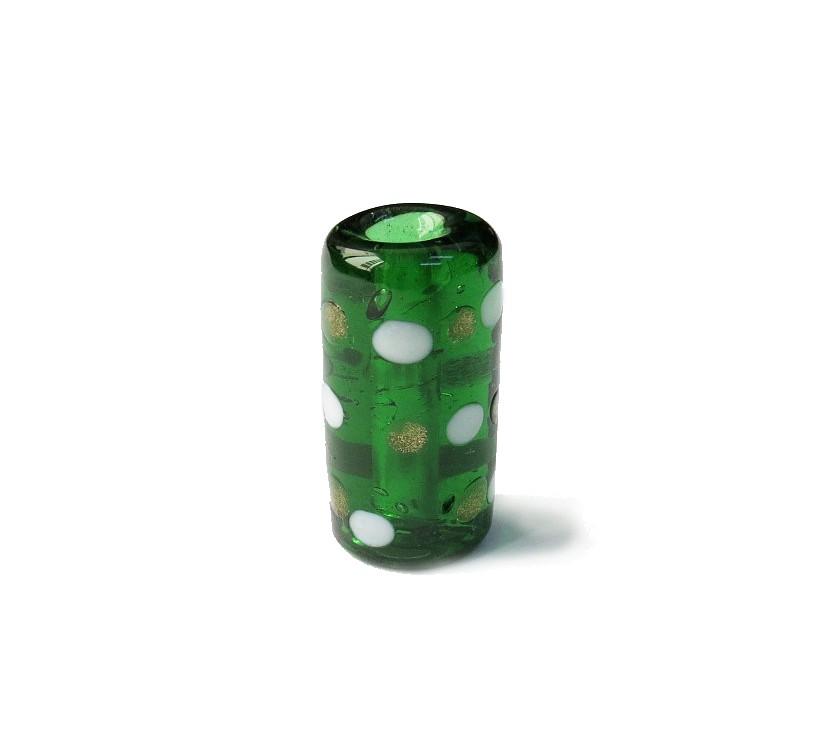 Especial Firma 126 - Pontos Verde Transparente/Branco/Dourado (G)