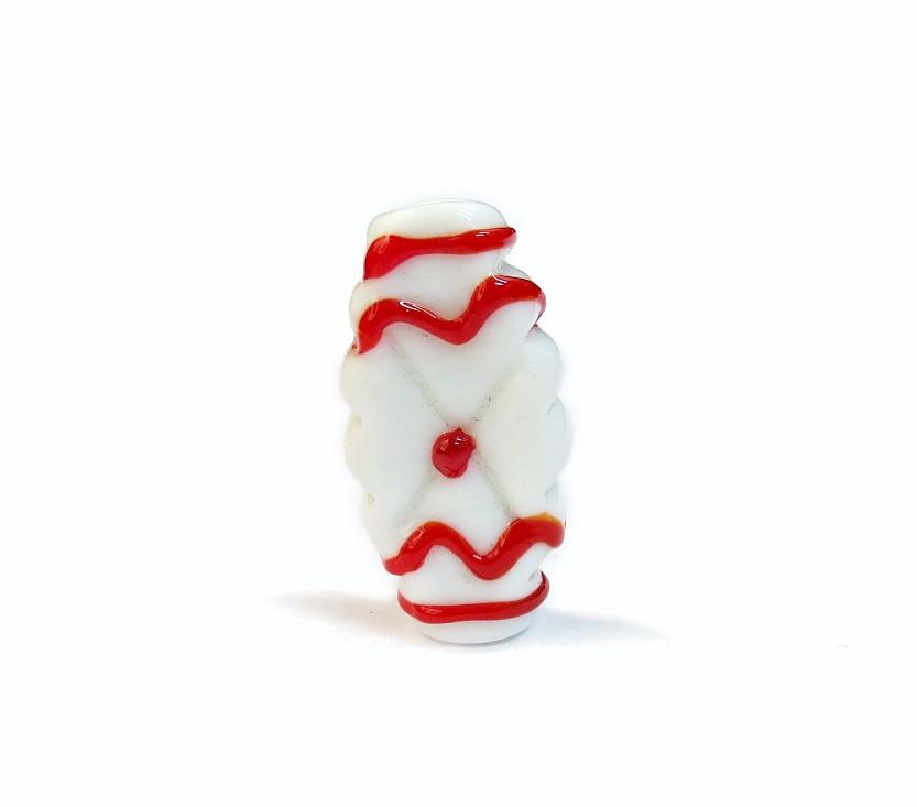 Especial Firma 178 - Murano Achatado Branco/Vermelho (G)