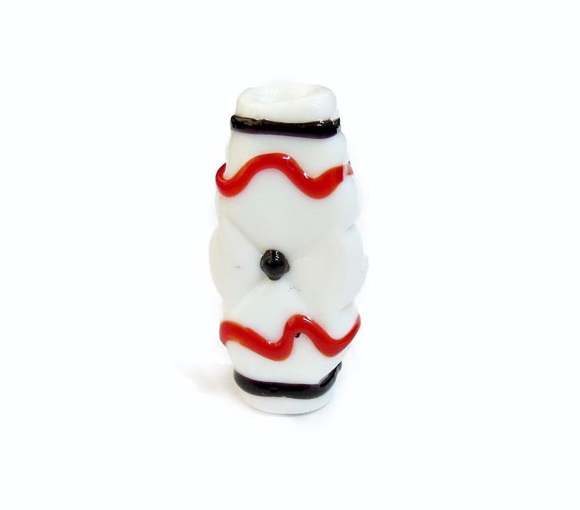 Especial Firma 186 - Murano Achatado Branco/Vermelho/Preto