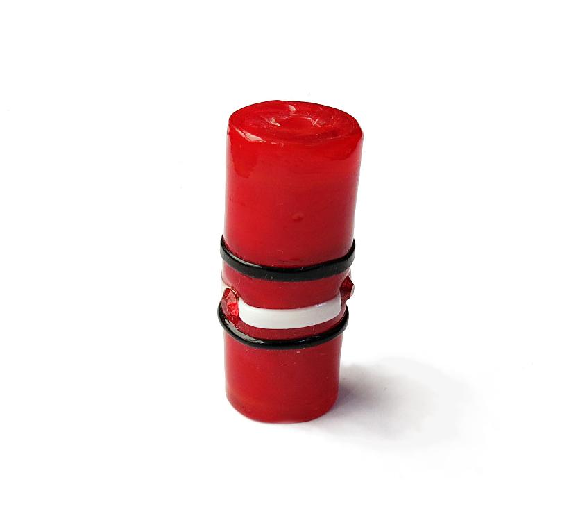 Especial Firma 207 - Murano Strass Vermelho/Preto/Branco (G)