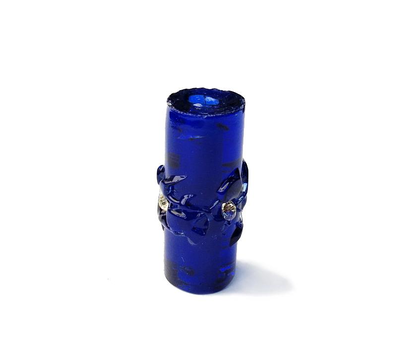 Especial Firma 213 - Murano Strass Azul Royal Transparente (G)