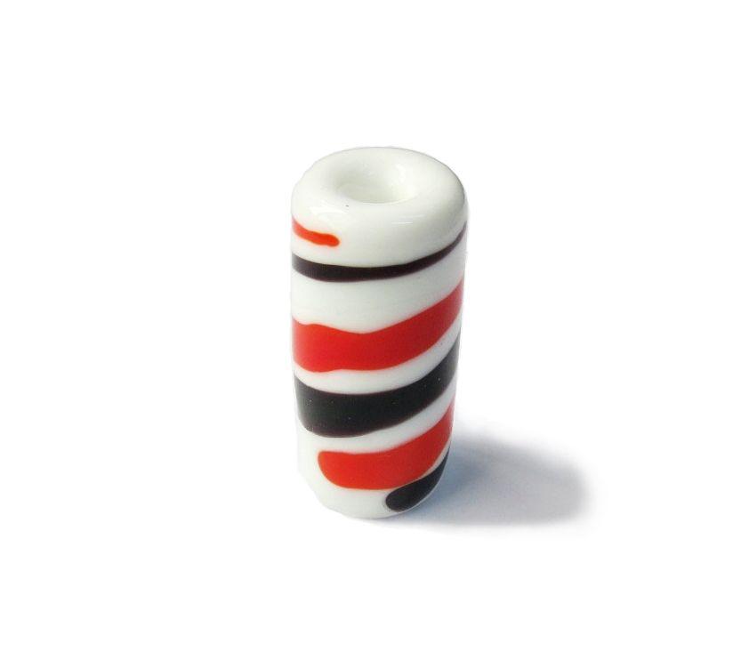 Firma 007 - Murano Branco/Preto/Vermelho (G)