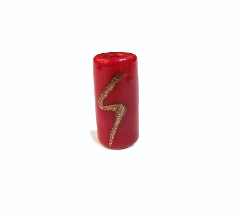 Firma 009 - Murano Vermelho/Raio Dourado