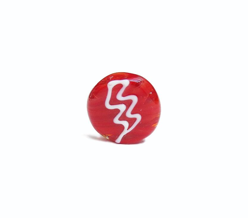 Firma 037 - Murano Circular Vermelho/Raio Branco