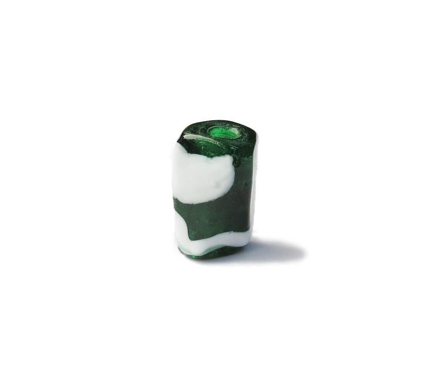 Firma 038 - Murano Facetado Verde Transparente/Branco (G)
