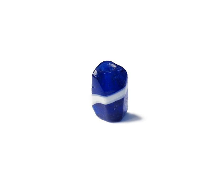 Firma 039 - Murano Facetado Azul Royal Transparente/Branco (G)